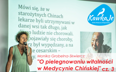 O pielęgnowaniu witalności w Medycynie Chińskiej cz. 3. – Monika Grobelna-Skwiercz [WYKŁAD]